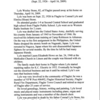 Stone, Lyle Wesley - Obit - Burlington Record (CO) Apr 2009 p. 1.jpg